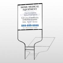 Medical Symbol 99 Round Rod Sign