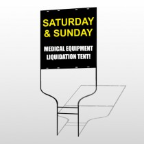 Medical Liquidation 331 Round Rod Sign