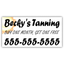 Tanning Salon Magnetic Sign - Magnetic Sign