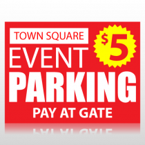Town Square Event Parking Sign Panel
