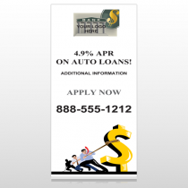 Auto Loan 173  Custom Sign