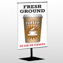 Coffee 119 Center Pole Banner Stand