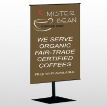 Coffee Bar 27 Center Pole Banner Stand