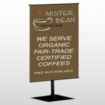 Coffee Bar 27 Center Pole Banner Stand
