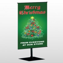 Merry Christmas 29 Center Pole Banner Stand