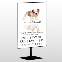 Petstore 26 Center Pole Banner Stand