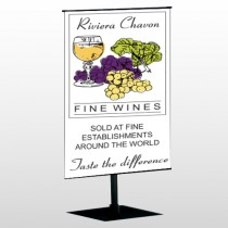 Wine 145 Center Pole Banner Stand