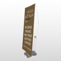 Coffee Bar 27 Exterior Flex Banner Stand