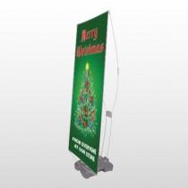 Merry Christmas 29 Exterior Flex Banner Stand
