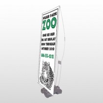 Zoo 127 Exterior Flex Banner Stand