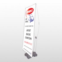 Rental Car 39 Exterior Flex Banner Stand