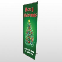 Merry Christmas 29 Flex Banner Stand