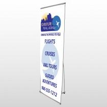 Travel Agent 28 Flex Banner Stand