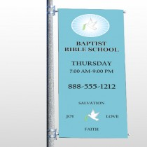Bible Dove 162 Pole Banner