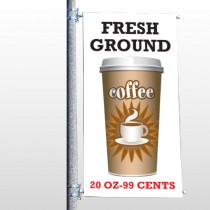 Coffee 119 Pole Banner