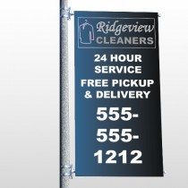 Dry Cleaners 24  Pole Banner