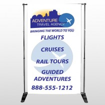 Travel Agent 28 Pocket Banner Stand