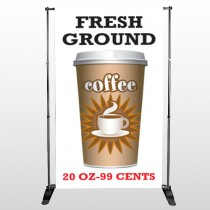 Coffee 119 Pocket Banner Stand