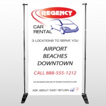 Rental Car 39 Pocket Banner Stand