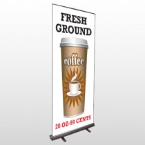 Coffee 119 Retractable Banner Stand