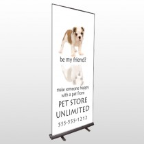 Petstore 26 Retractable Banner Stand