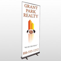 Real Handshake 365 Retractable Banner Stand