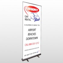 Rental Car 39 Retractable Banner Stand