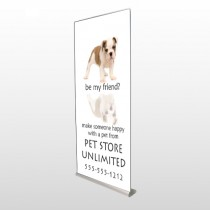 Pet Store 26 Retractable Banner Stand
