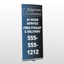 Dry Cleaners 24  Retractable Banner Stand