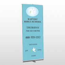 Bible Dove 162 Retactable Banner Stand