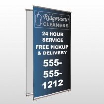 Dry Cleaners 24 Center Pole Banner Stand