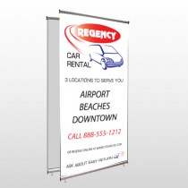 Rental Car 39 Center Pole Banner Stand