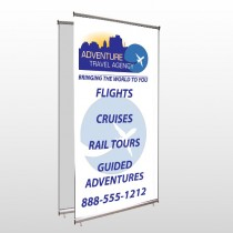Travel Agent 28 Center Pole Banner Stand
