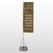 Coffee Bar 27 Exterior Flag Banner Stand