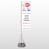 Rental Car 39 Exterior Flag Banner Stand