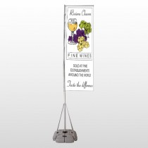 Wine 145 Exterior Flag Banner Stand