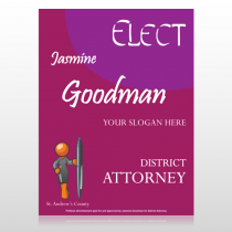 Elect Attorney 279 Custom Sign