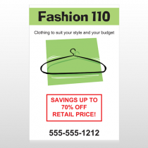 Fashion Hanger 526 Sign