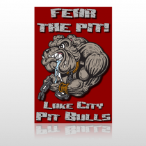 Fear Dog Mascot 51 Custom Sign