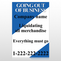 Going Out Sale 11 Custom Sign