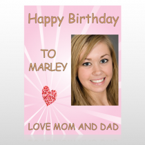 Happy B-Day Marley 10 Custom Sign