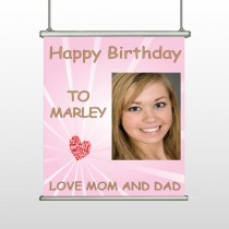 Happy Birthday Marley 10 Hanging Banner