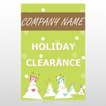 Holiday Clearance 13 Custom Sign