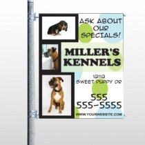 Dog Kennels 300 Pole Banner