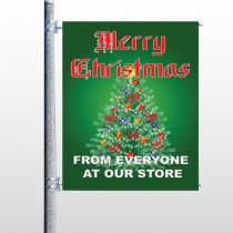 Merry Christmas 29 Pole Banner