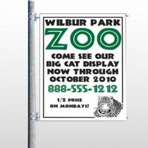 Zoo 127 Pole Banner