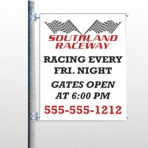 Racetrack 31 Pole Banner