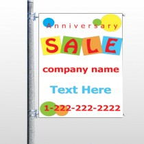 Square Circle Sale 15 Pole Banner