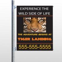 Tiger Landing 303 Pole Banner