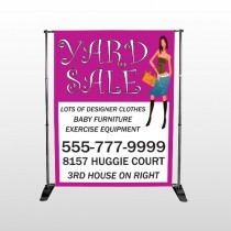 Pink Girl Sale 552 Pocket Banner Stand